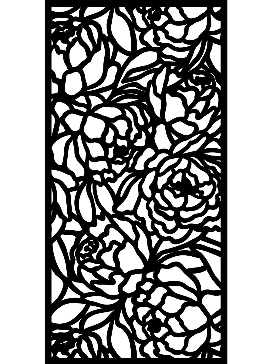 Bloom Large Garden Screen - Cream - 6ft x 3ft