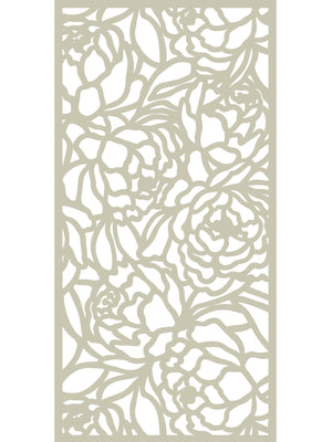 Bloom Large Garden Screen - Dove Grey - 6ft x 3ft