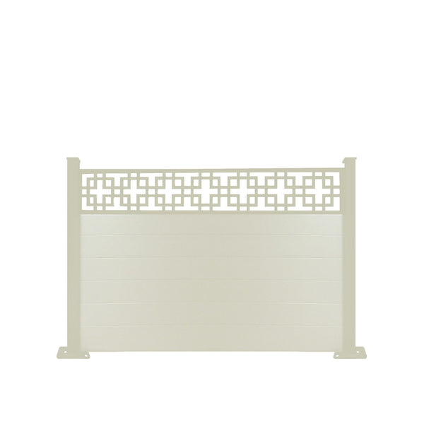 Cubed fence - Cream - 7ft
