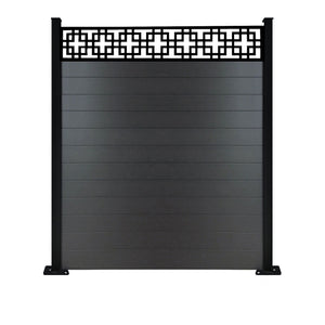 Cubed fence - Black - 3ft