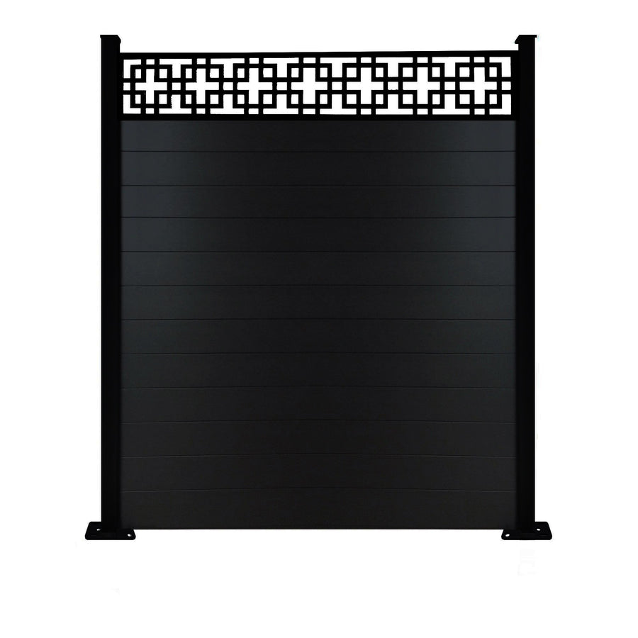 Cubed fence - Black - 7ft