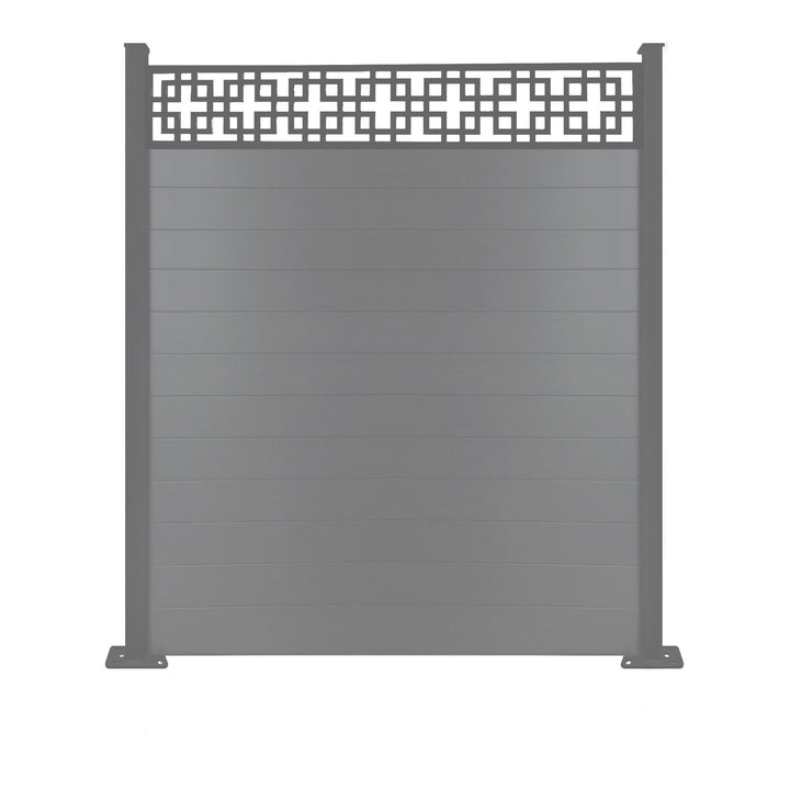 Cubed fence - Dove Grey - 7ft