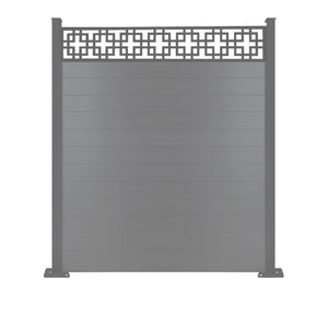 Cubed fence - Dove Grey - 6ft
