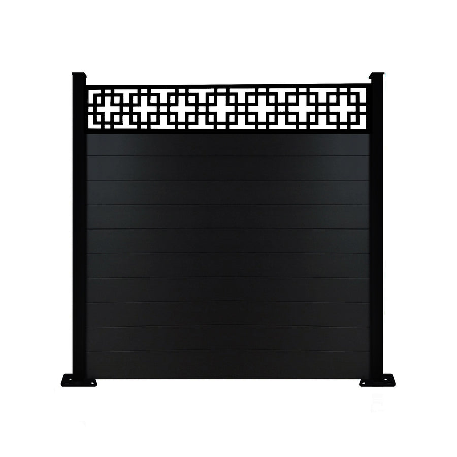 Cubed fence - Black - 6ft