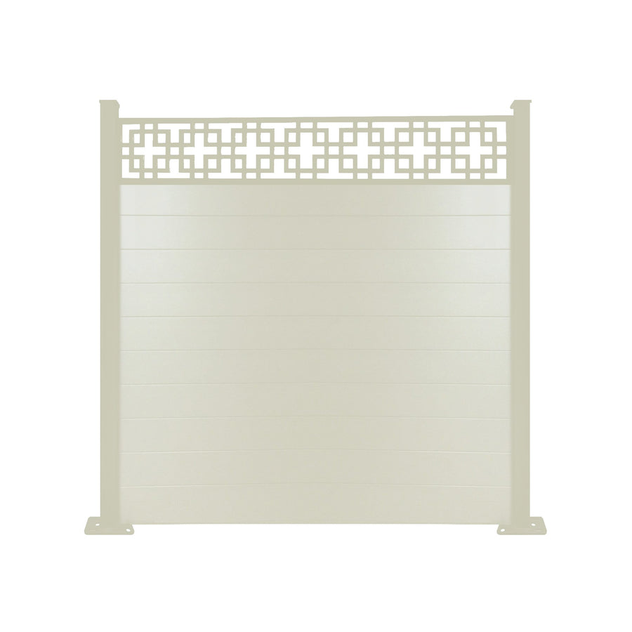 Cubed fence - Cream - 6ft