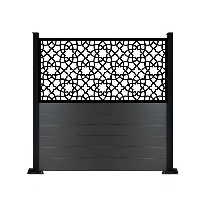 Alhambra Anthracite Screen Fence