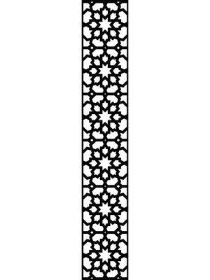 Black geometric designer trellis by Screen With Envy