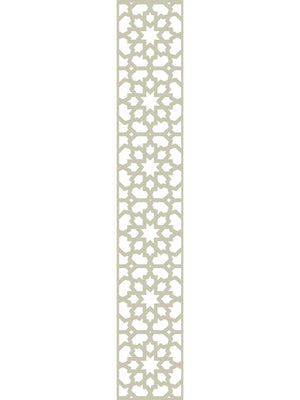Cream geometric designer trellis detail by Screen With Envy
