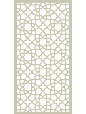 Cream geometric large Alhambra screen by Screen With Envy