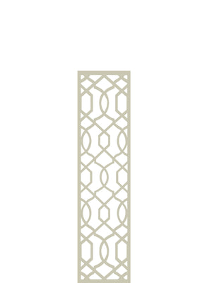 Cream Helix geometric designer trellis by Screen With Envy detail