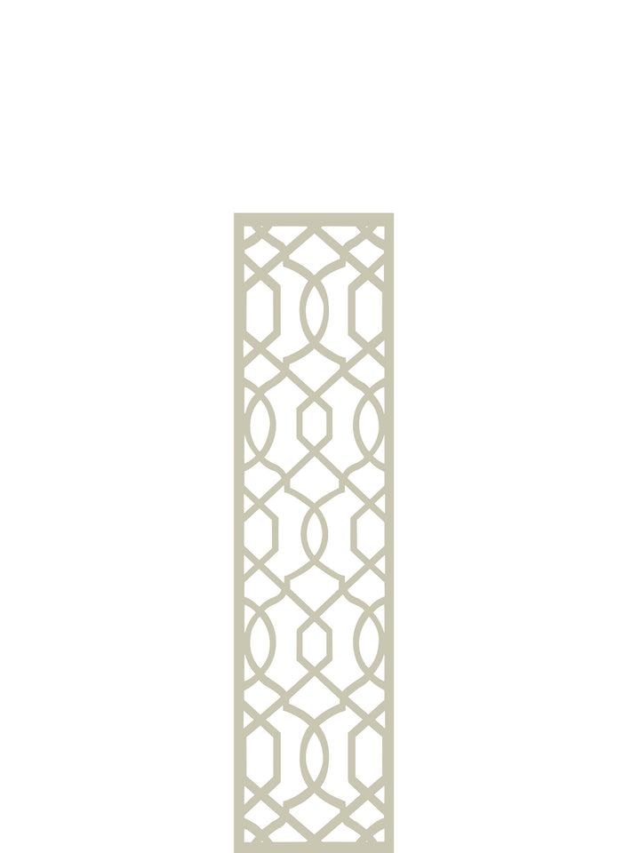 Cream Helix geometric design durable garden trellis by Screen With Envy