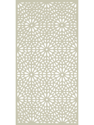 Cream designer geometric pattern privacy garden screen detail by Screen With Envy