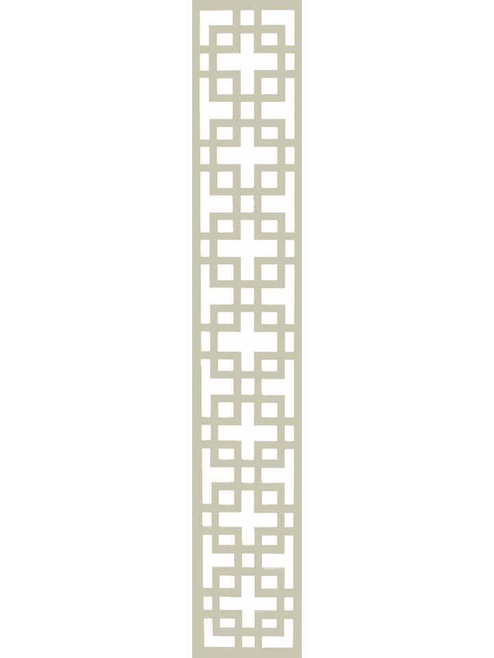 Cream composite Art Deco design garden trellis by Screen With Envy