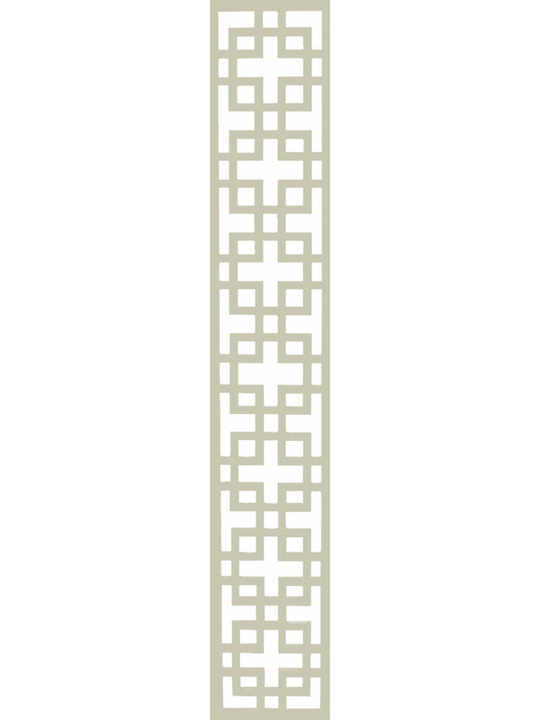 Cream art deco inspired garden trellis detail by Screen With Envy