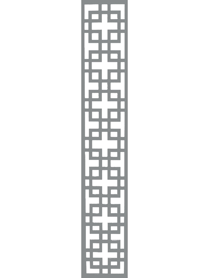 Cubed Garden Trellis - Dove Grey - 6ft x 1ft
