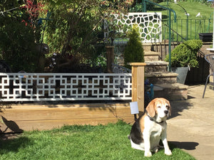 Cream Cubed Tall Garden Trellis 6ft x 1ft