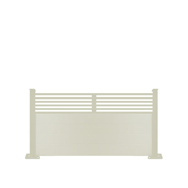 Slat Top Fence - Dove Grey - 6ft