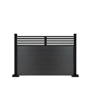 Slat Top Fence - Black - 3ft