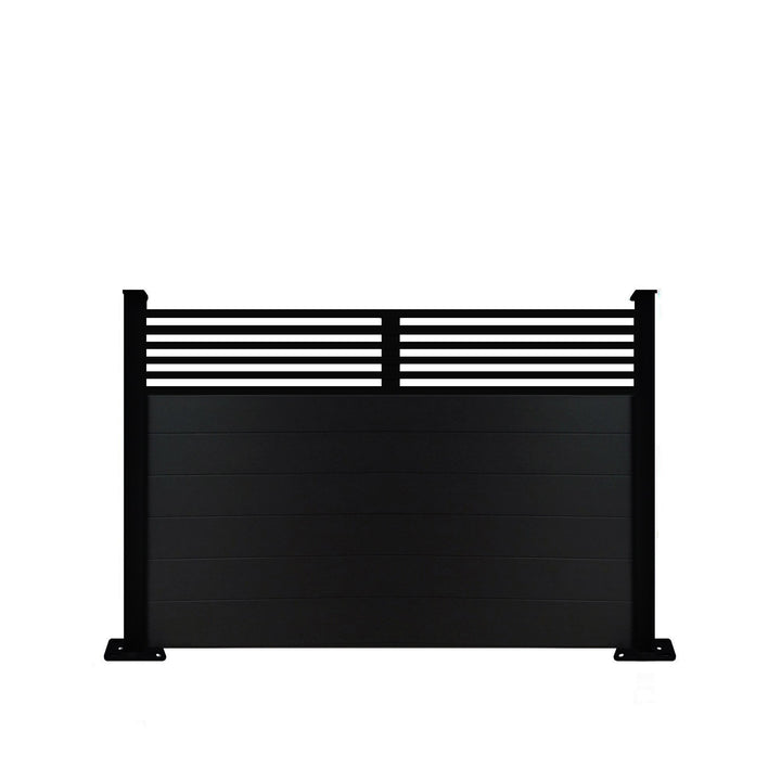 Slat Top Fence - Black - 4ft