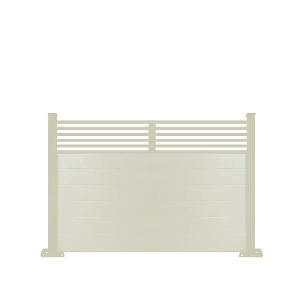 Slat Top Fence - Dove Grey - 7ft