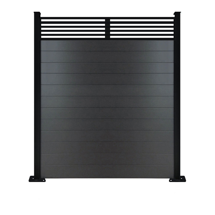 Slat Top Fence - Anthracite - 6ft