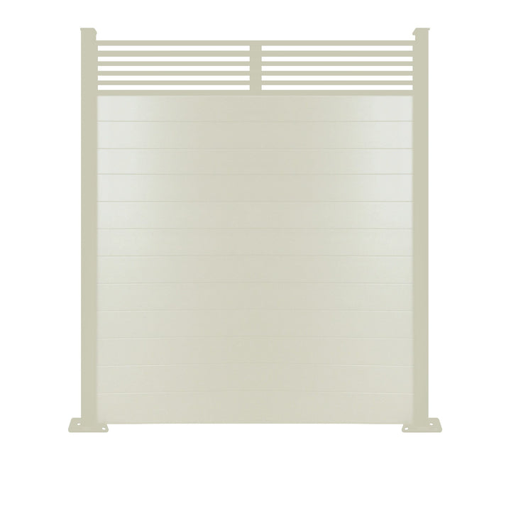 Slat Top Fence - Cream - 7ft