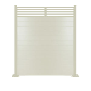 Slat Top Fence - Cream - 3ft