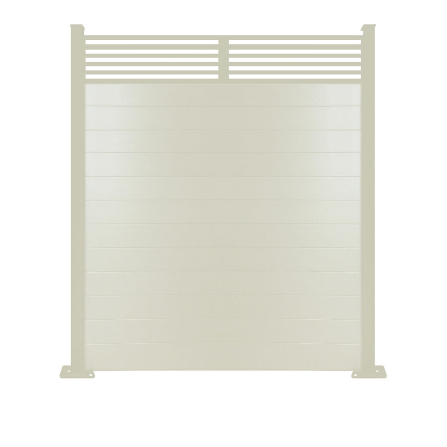 Slat Top Fence - Dove Grey - 3ft