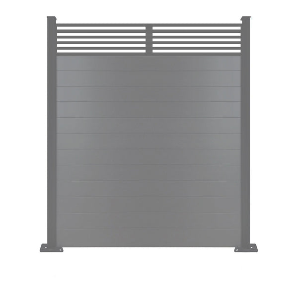 Slat Top Fence - Anthracite - 3ft
