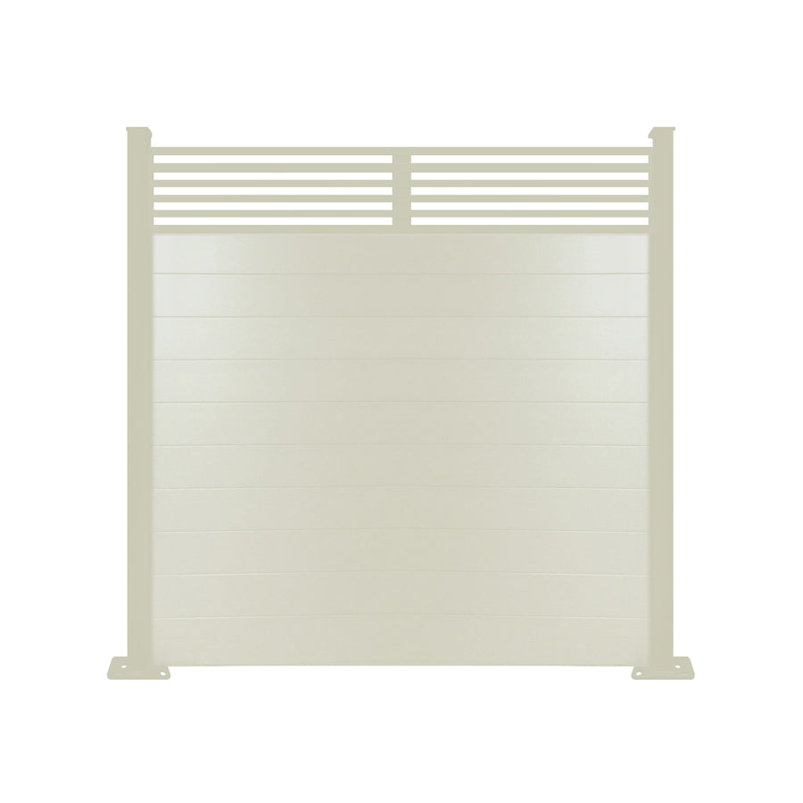 Slat Top Fence - Cream - 6ft