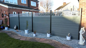 Alhambra Fence - Dove Grey - 3ft