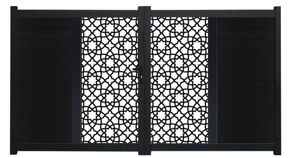 Alhambra Vertical Screen Driveway Gate - Anthracite