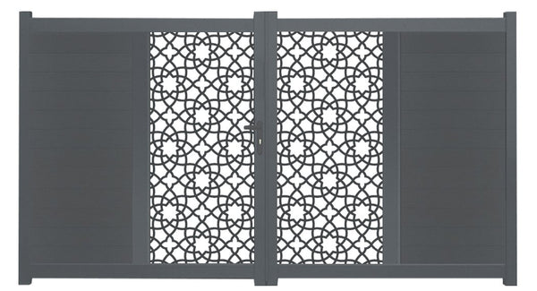 Alhambra Vertical Sliding Screen Driveway Gate - Cream