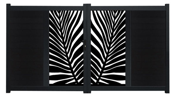 Frond Vertical Sliding Screen Driveway Gate - Anthracite