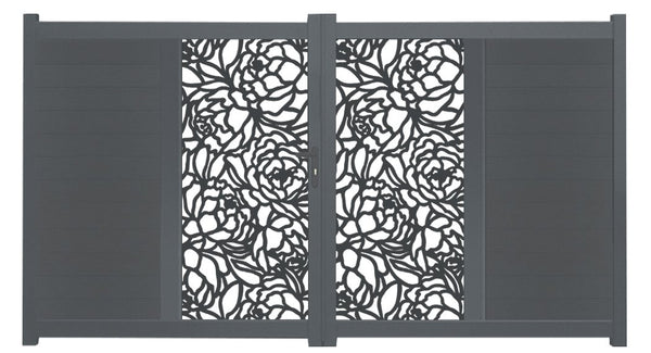 Bloom Vertical Screen Driveway Gate - Anthracite