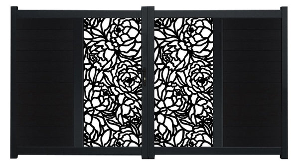 Bloom Vertical Sliding Screen Driveway Gate - Anthracite