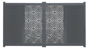 Moucharabiya Vertical Screen Driveway Gate - Dove Grey