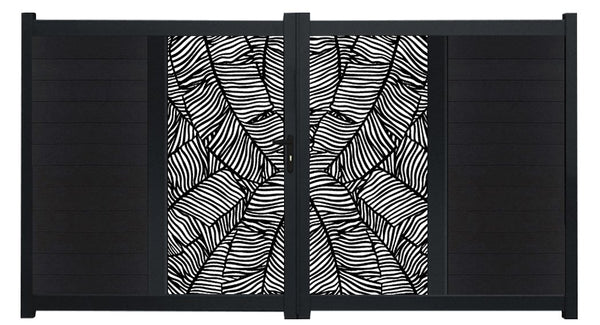 Verdure Vertical Sliding Screen Driveway Gate - Black