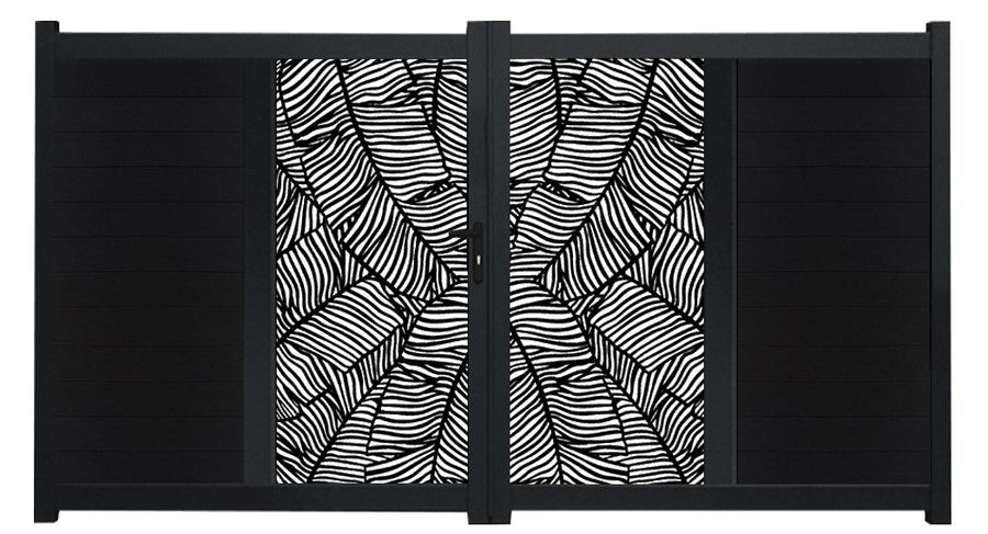 Verdure Vertical Screen Driveway Gate - Black
