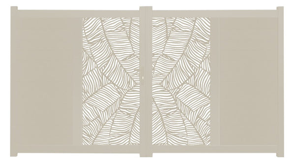 Verdure Vertical Screen Driveway Gate - Cream