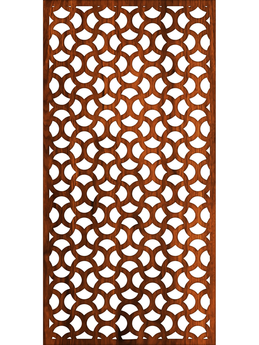 Ellipse Corten metal screen 180 x 90