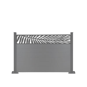 Frond Fence - Dove Grey - 7ft Tall