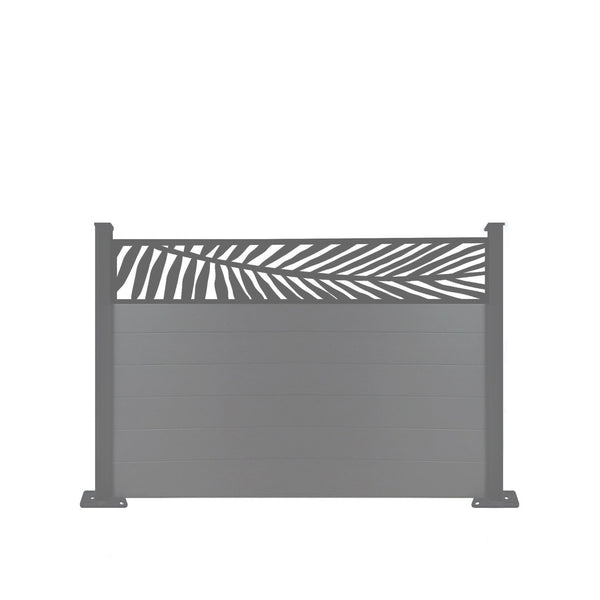 Frond Fence - Dove Grey - 6ft Tall