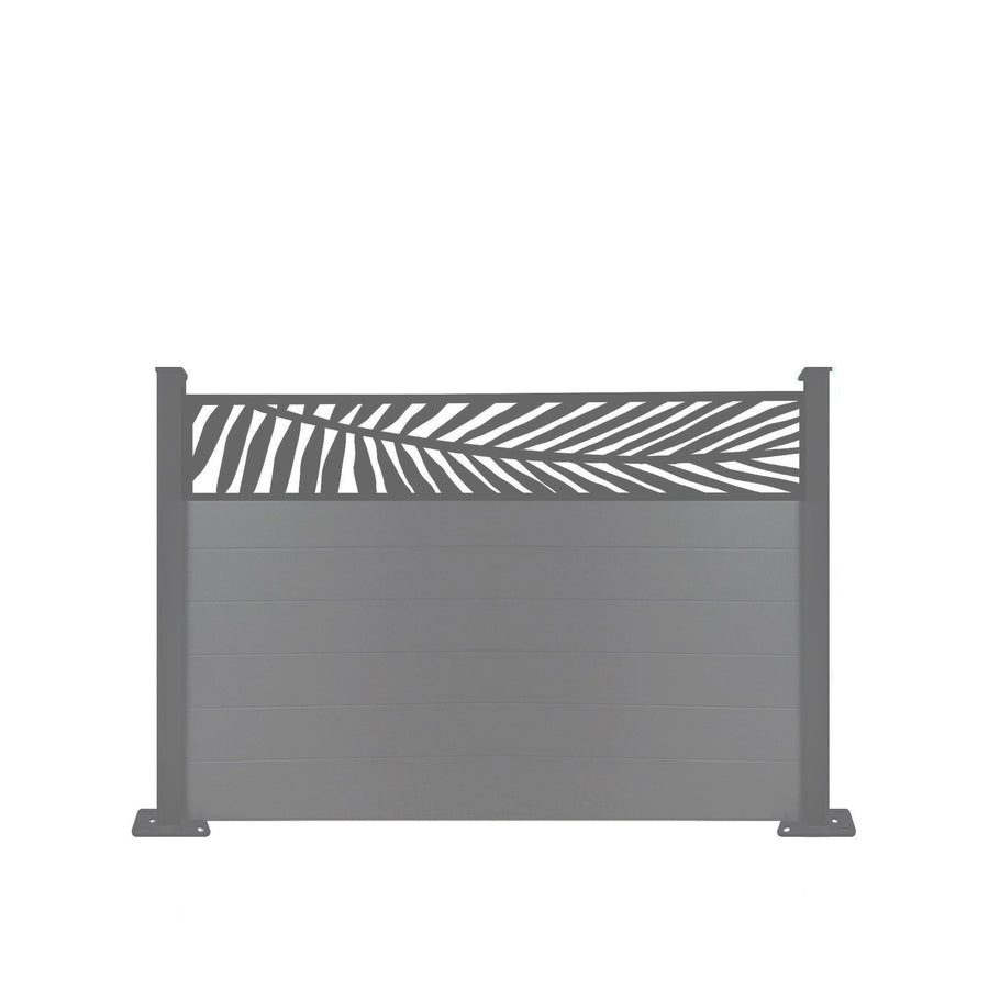 Frond Fence - Dove Grey - 4ft Tall