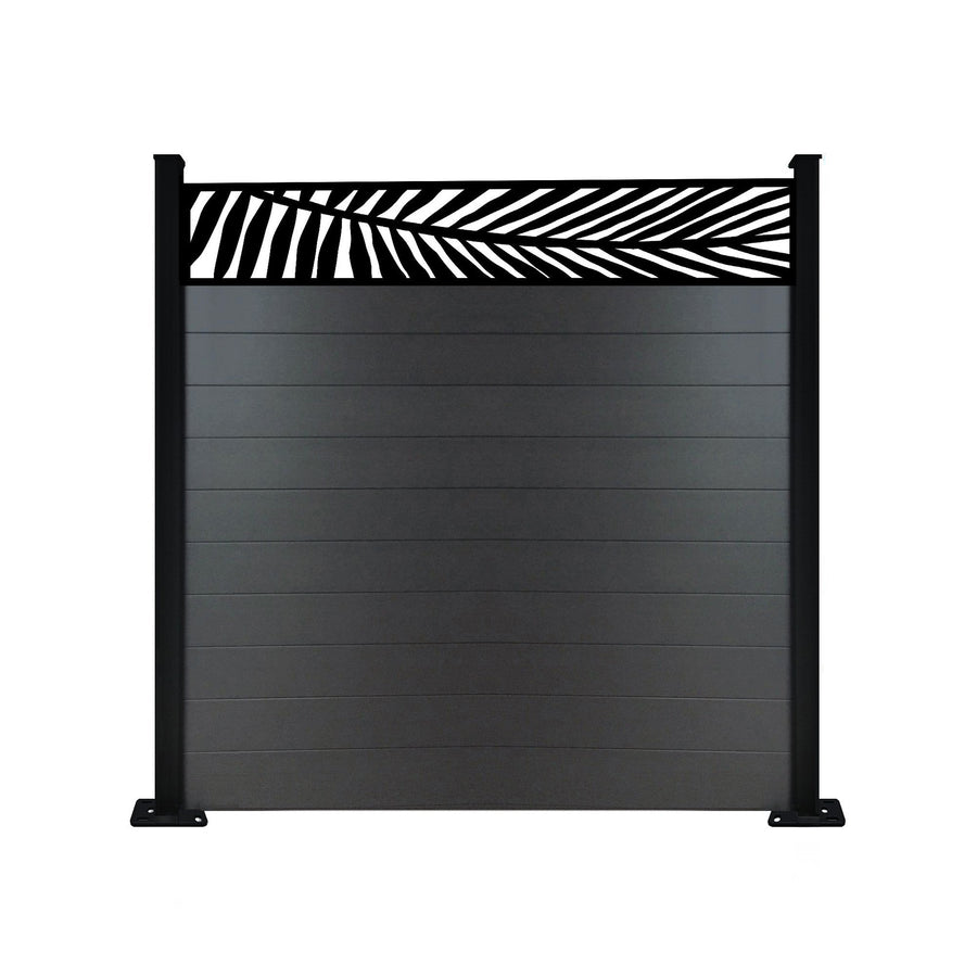 Frond Fence - Black - 6ft Tall