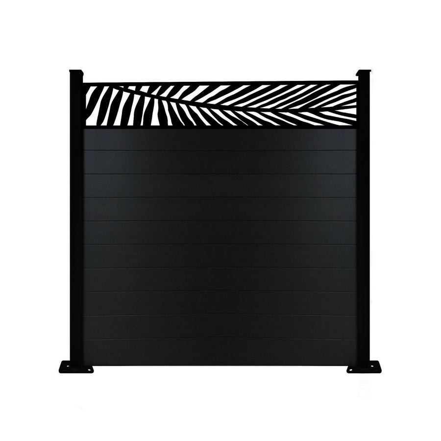 Frond Fence - Black - 4ft Tall