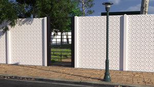 Aztec Marble Fence - 6ft