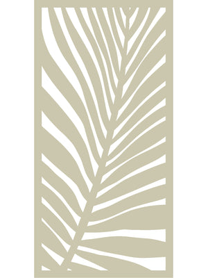 Frond Large Garden Screen - Dove Grey - 6ft x 3ft