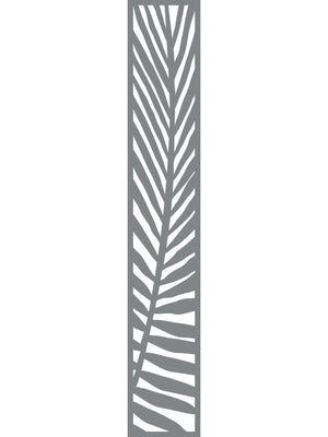 Frond tall trellis - Dove Grey - 6ft x 1ft