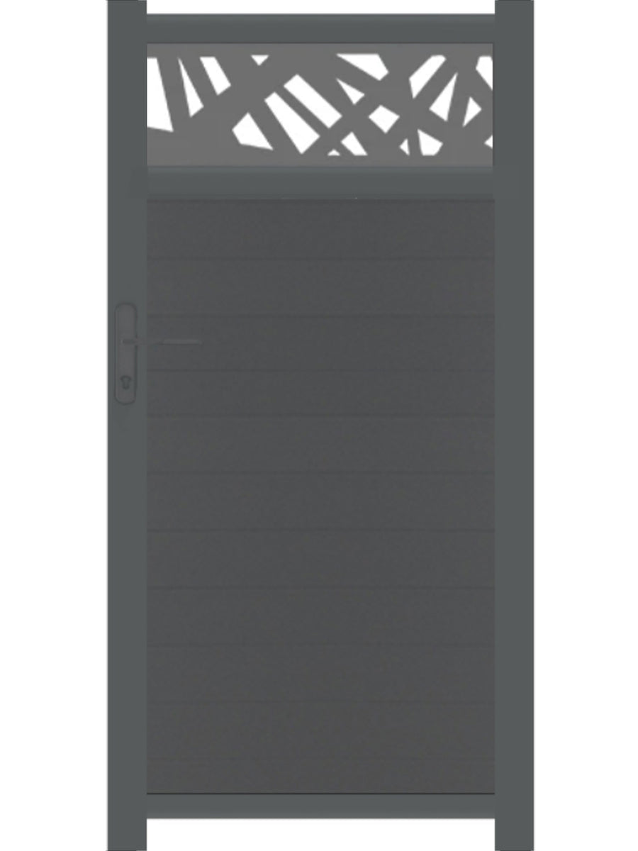 Kerplunk Trellis Pedestrian Gate - Dove Grey - 4ft height